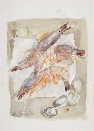 MARIO CALANDRI (1914-1993) Tre gamberi