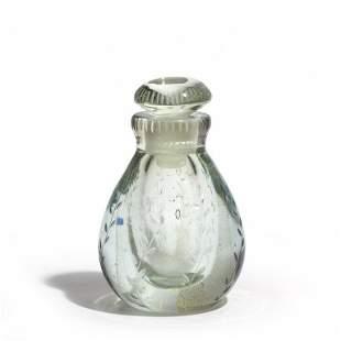 CARLO SCARPA, VENINI Un flacone in cristallo e