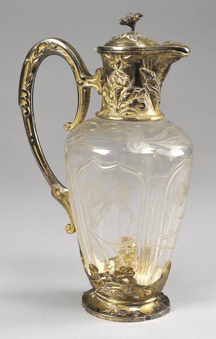 Brocca Liberty in cristallo molato ed argento