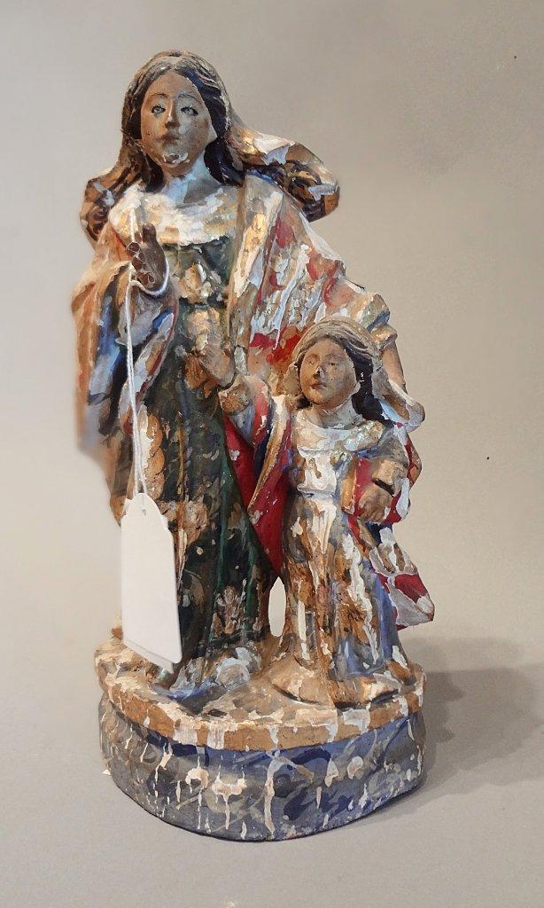 Sant'Anna e la Madonna, gruppo in legno