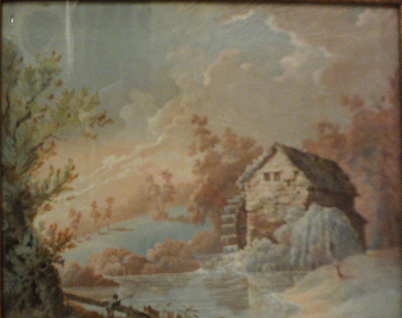 "Scuola veneta sec.XVIII ""Paesaggi con fiumi"""