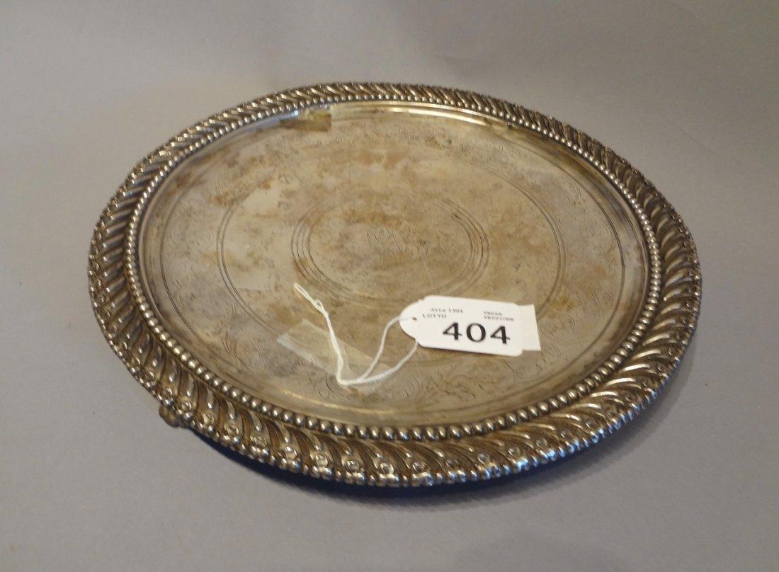Alzata in argento sec.XIX diam.cm.29