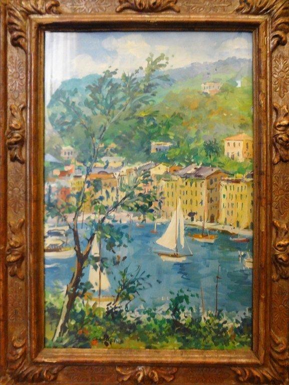 """""""Portofino"""" olio cm. 42x68"""
