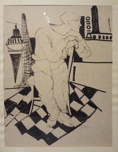 ATTILIO MANGINI (1912-2004)  Uomo disegno