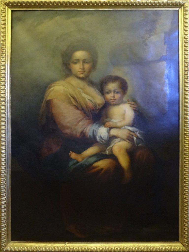 """""""Madonna con Bambino"""" olio fine sec. XIX, bella"""