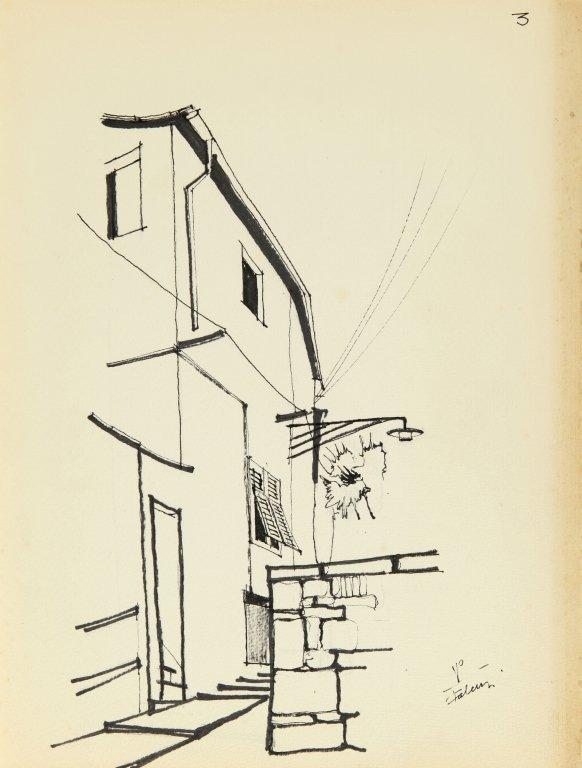 PIANO RENZO (1937-)  Cartella di 7 disegni