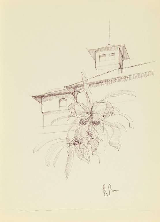 PIANO RENZO (1937-)  Cartella di 17 disegni