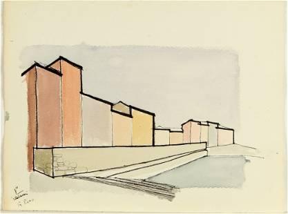 PIANO RENZO (1937-) Cartella di 8 disegni