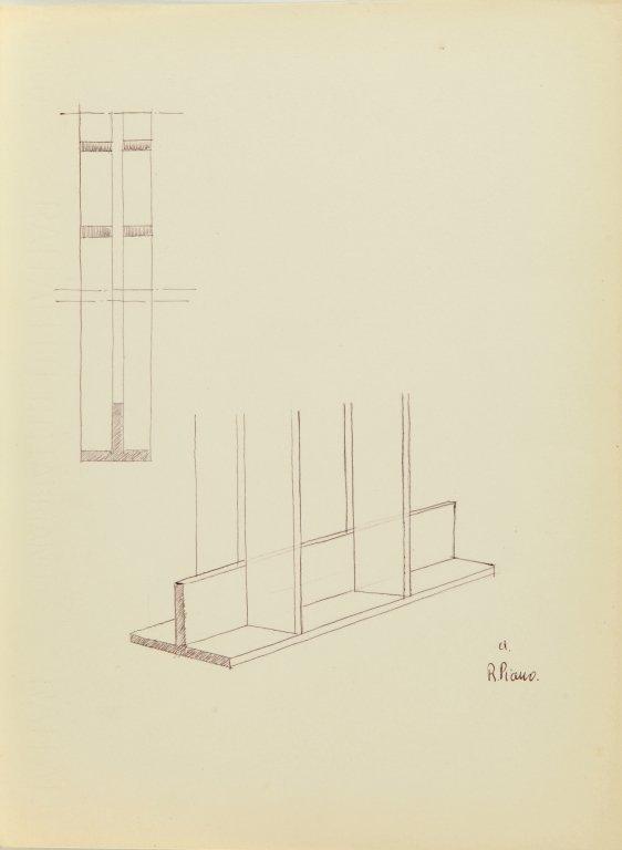 PIANO RENZO (1937-)  Cartella di 15 disegni
