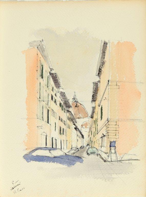 PIANO RENZO (1937-)  Cartella di 16 disegni