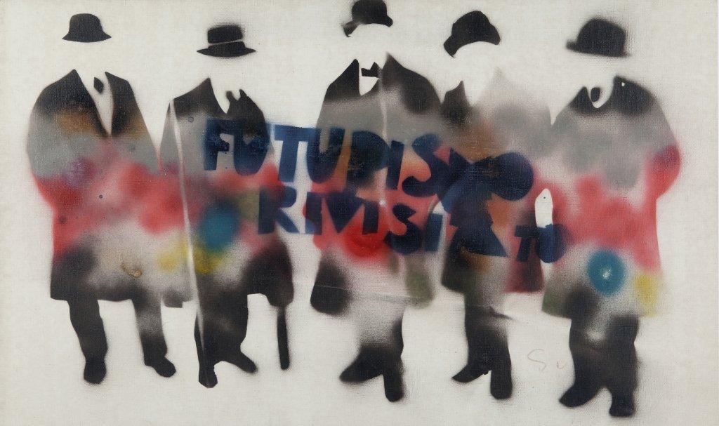 MARIO SCHIFANO (1934-1998)  Futurismo