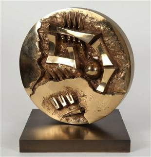 ARNALDO POMODORO (1926-) Ruota 1995 bronzo