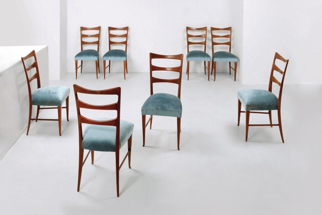 PAOLO BUFFA Otto sedie, primi anni ¿50. : Lot 2183