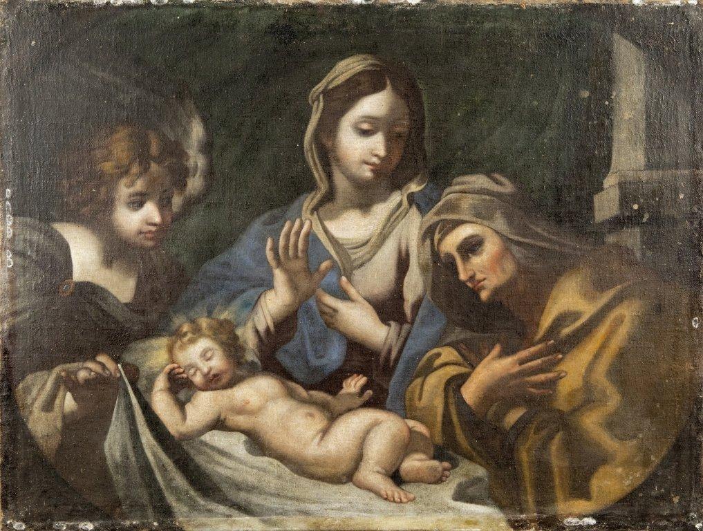 """Scuola emiliana sec. XVIII """"Madonna con Bambino e"""