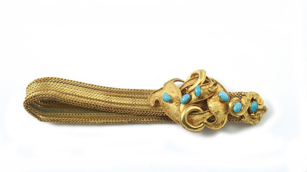 Bracciale bijoux in metallo dorato con