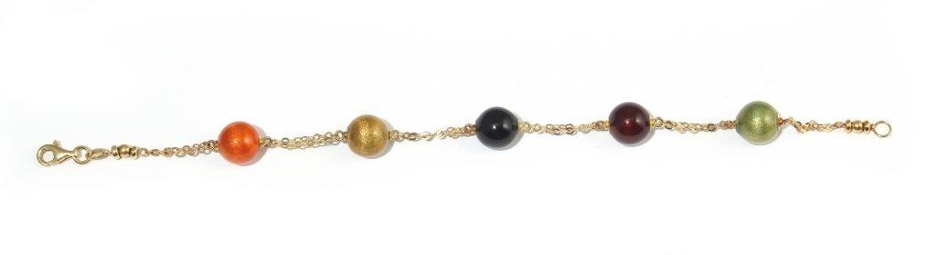 Bracciale in oro giallo con sfere intercalari in
