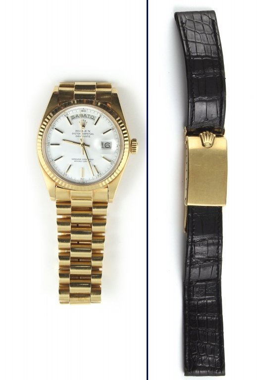 Orologio in oro giallo da uomo, Rolex Oyster