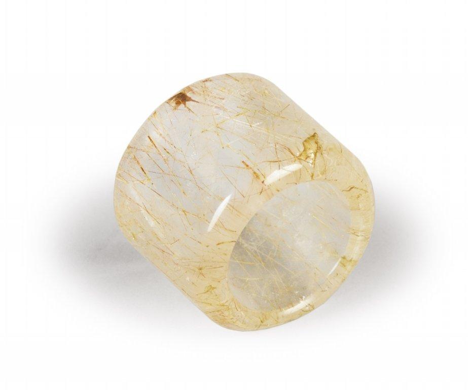 Anello in cristallo di rocca sec.XIX-XX h cm 3