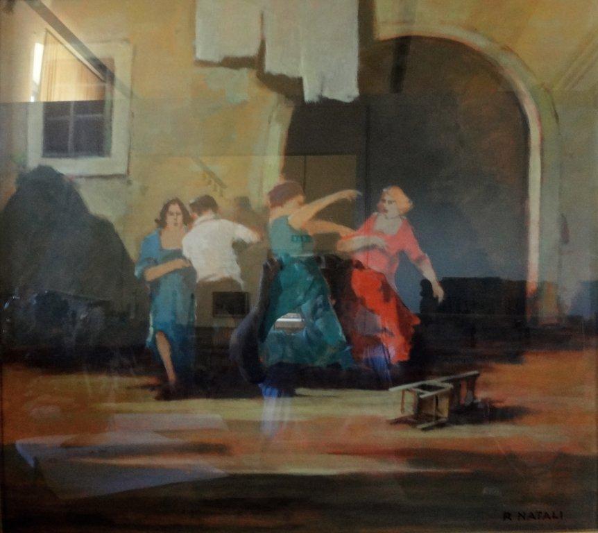 RENATO NATALI (1883-1979)  La baruffa olio
