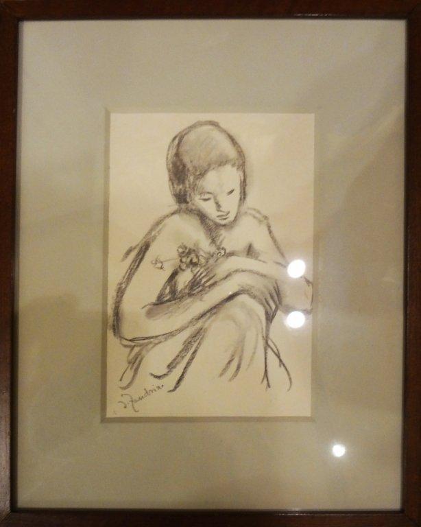 ADELINA ZANDRINO (1893-1994)  Ragazza con