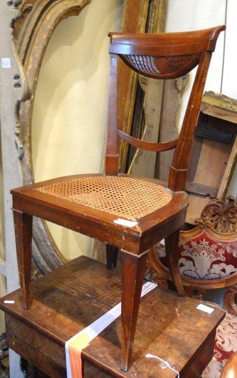 Cinque sedie Direttorio in ciliegio con schienale