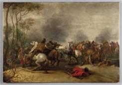 """MUELENER PIETER (1602-1654)  """"Battaglia"""""""