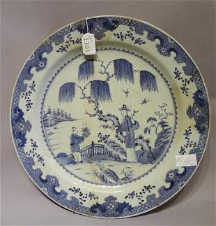 Grande piatto in porcellana di Cina a decoro di