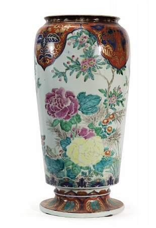 Vaso Imari Famiglia Rosa in porcellana decorata a