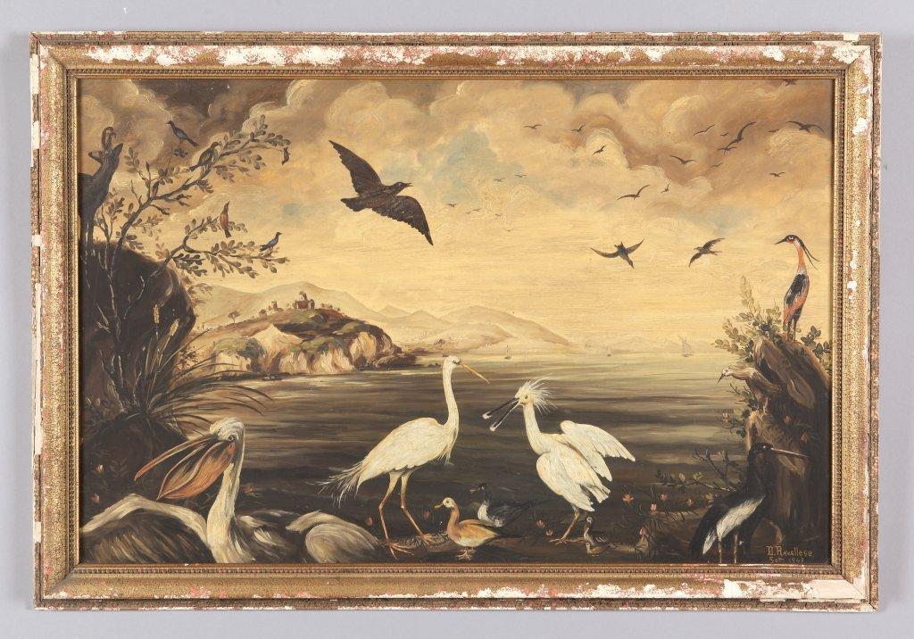 """""""Animali acquatici"""" coppia di olii cm. 100x65"""