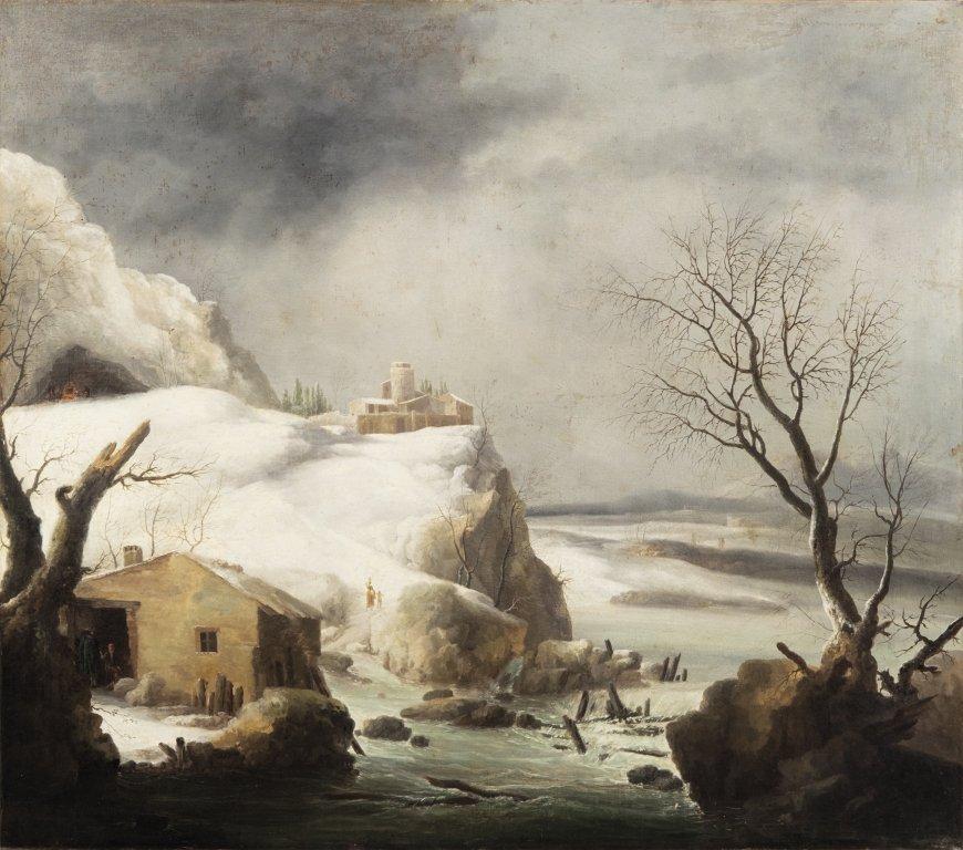 "FRANCESCO FOSCHI (-1805)  ""Paesaggio innevato"
