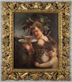 """""""Bacco"""" olio su tela da Caravaggio in bella"""