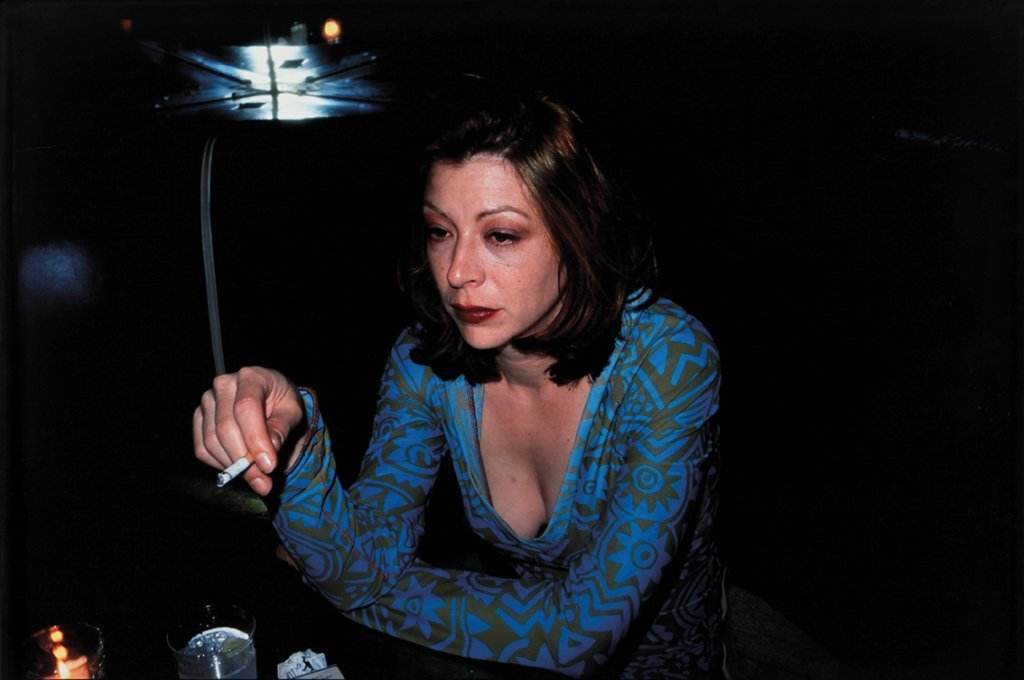 NAN GOLDIN (1953-)  Kathleen at Bowery Bar,