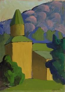 SALVO (1947-) Chiesa tra le montagne