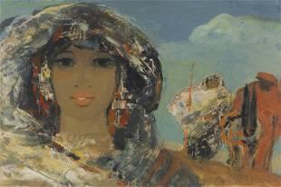 SALVATORE FIUME (1915-1997) Odalisca olio