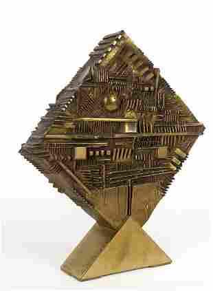 ARNALDO POMODORO (1926-) Romboide n. 2