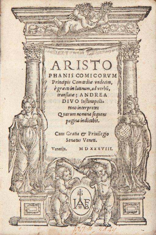 """Aristofane (446ca """" 386ca A.C.) Aristophanis"""