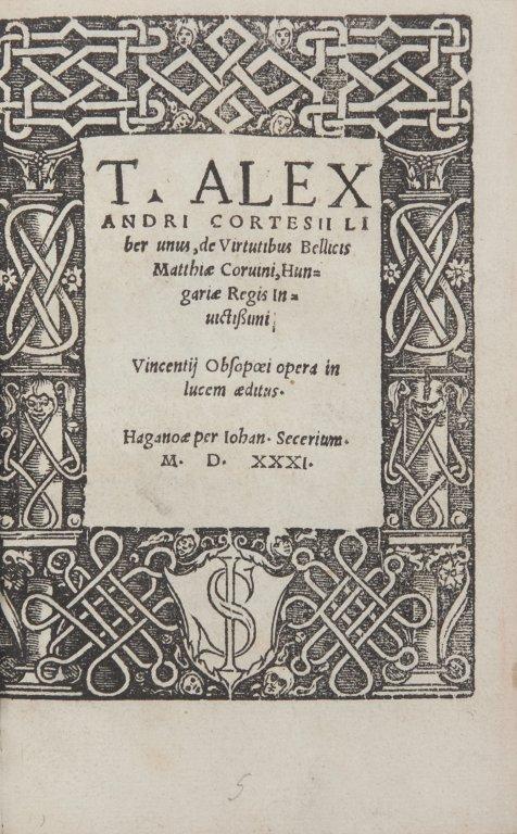 Alessandro Cortesi (San Gimignano 1460ca - Roma