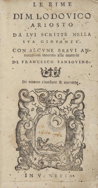 Ludovico Ariosto (Reggio-Emilia, 1474- Ferrare