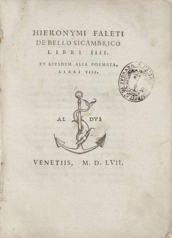 """Gerolamo Falletti (Trino, 1518 """" Padova, 1564)"""