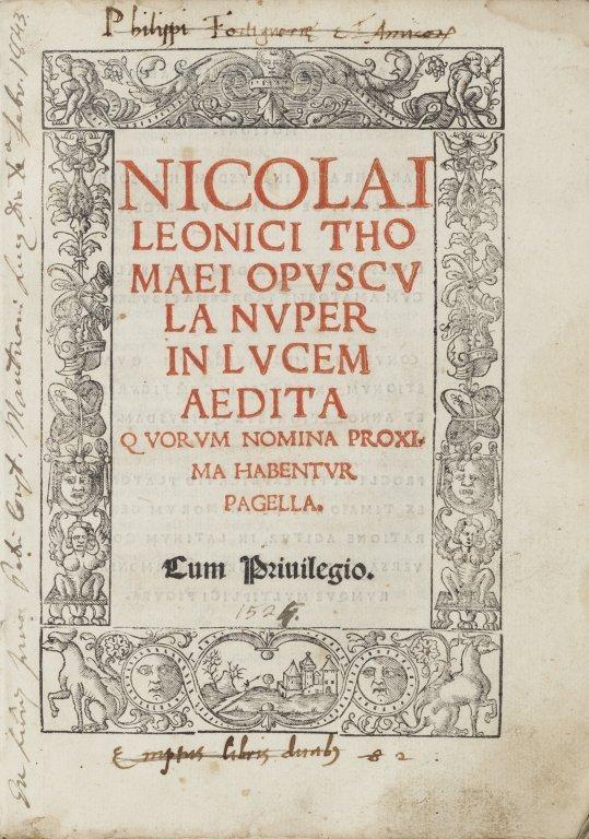 Niccolò Leoniceno Tomeo / Nicolas Léonicène