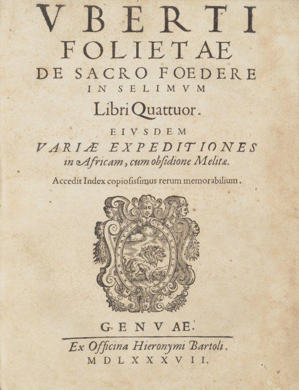Uberto Foglietta (Genova 1518 - Roma, 1581).