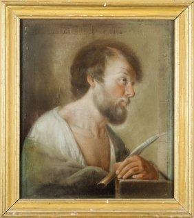 "Scuola Senese Sec.xviii ""san Bartolomeo"" Pastello"