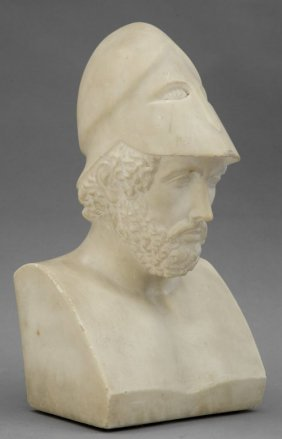 Achille, Busto In Marmo Inizi Sec.xix Cm.