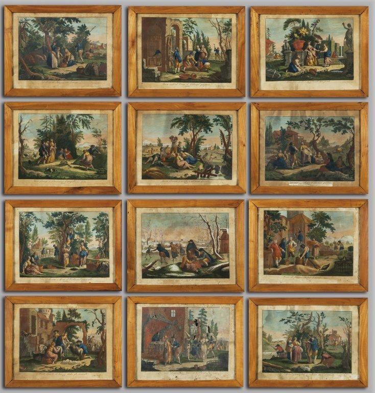 "GIUSEPPE ZOCCHI (1711-1767)  ""I dodici mesi"