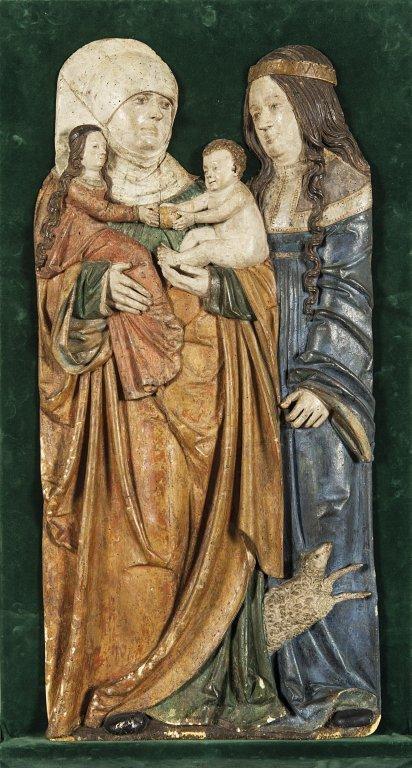 """Scuola tedesca sec.XV """"Madonna con Sant'Anna"""""""