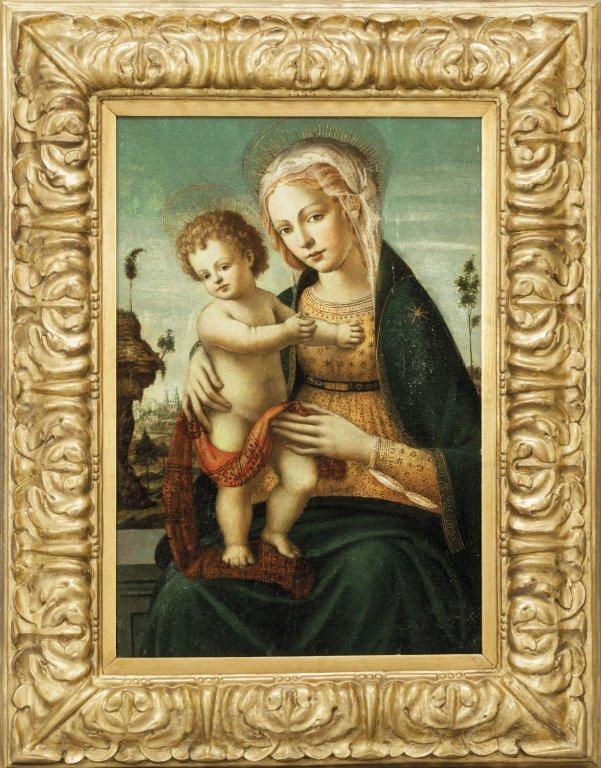 "Scuola toscana sec.XVI ""Madonna con Bambino con"