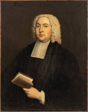 """uomo Con Libro"" Olio Sec.xviii Cm. 70x92"