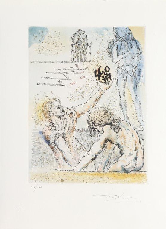"SALVADOR DALI' (1904-1989)  Cartella ""Hamlet"" - 2"