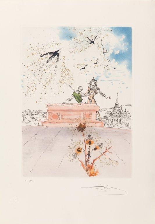 "SALVADOR DALI' (1904-1989)  Cartella ""Hamlet"" - 3"
