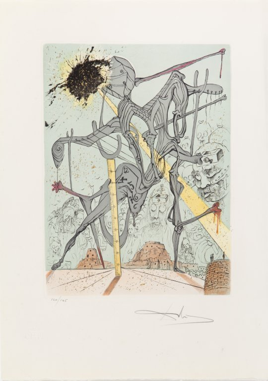 "SALVADOR DALI' (1904-1989)  Cartella ""Hamlet"" - 5"
